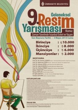 Ümraniye Belediyesi 9. Geleneksel Resim Yarışması Etkinlik Afişi