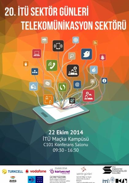 """20. İTÜ Sektör Günleri """"Telekomünikasyon Sektörü"""" Etkinlik Afişi"""