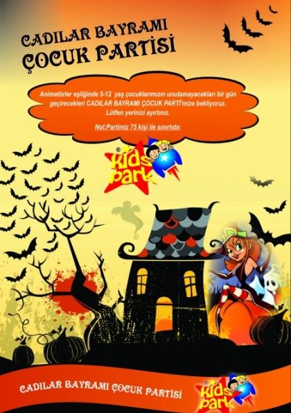 Cadılar Bayramı Çocuk Partisi Etkinlik Afişi