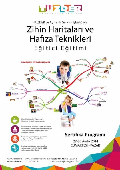 TÜZDER Zihin Haritaları ve Hafıza Teknikleri Eğitimi Etkinlik Afişi