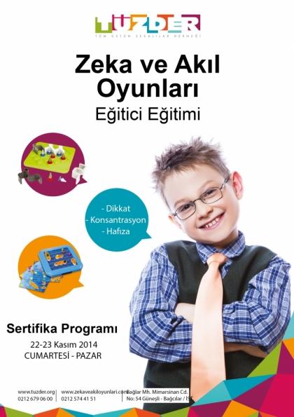 TÜZDER Zeka ve Akıl Oyunları Eğitimi Etkinlik Afişi
