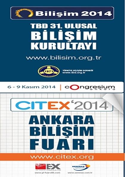 CITEX'2014 Ankara Bilişim Fuarı Etkinlik Afişi