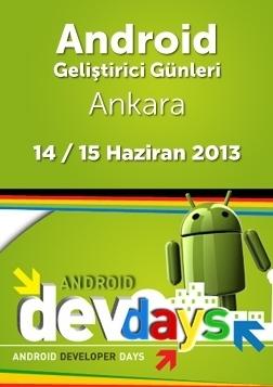 Android Geliştirici Günleri 2013 Etkinlik Afişi