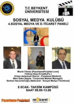 4. Sosyal Medya ve E-Ticaret Paneli Etkinlik Afişi