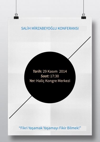 Salih Mirzabeyoğlu Konferansı Etkinlik Afişi