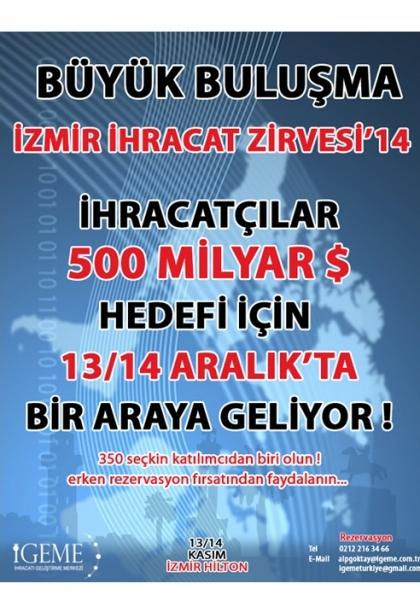 İzmir İhracat Zirvesi Etkinlik Afişi