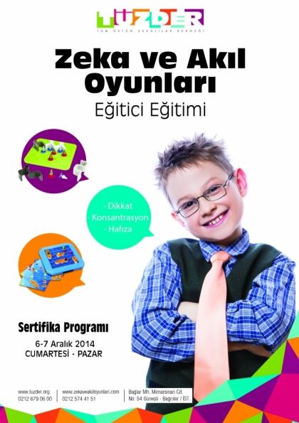 TÜZDER Zeka ve Akıl Oyunları Eğitici Eğitimi Etkinlik Afişi
