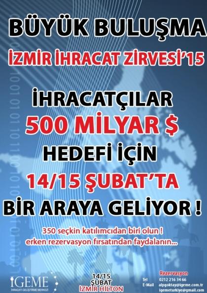 İzmir İhracat Zirvesi'15 Etkinlik Afişi