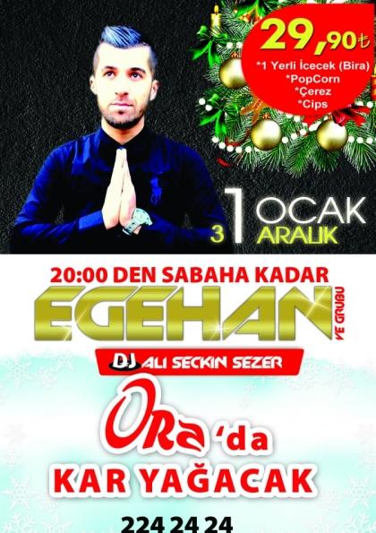 """2015 Yılbaşı Partisi  """"ORA'da Kar Yağacak"""" Etkinlik Afişi"""