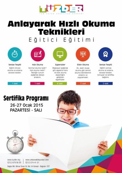 TÜZDER Anlayarak Hızlı Okuma Teknikleri Eğitici Eğitimi Etkinlik Afişi