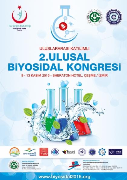 Uluslararası Katılımlı 2. Ulusal Biyosidal Kongresi Etkinlik Afişi