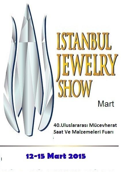 İstanbul Jewelry Show Mart 2015 Etkinlik Afişi