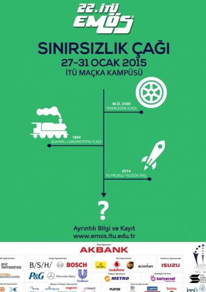 """22. İTÜ EMÖS """"Sınırsızlık Çağı"""" Etkinlik Afişi"""