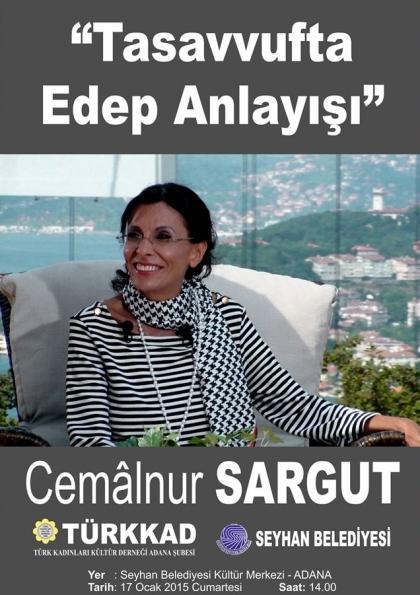 Cemâlnur Sargut Adana Konferansı Etkinlik Afişi
