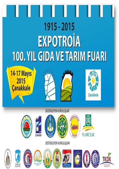 EXPOTROIA 100.Yıl Tarım Fuarı Etkinlik Afişi