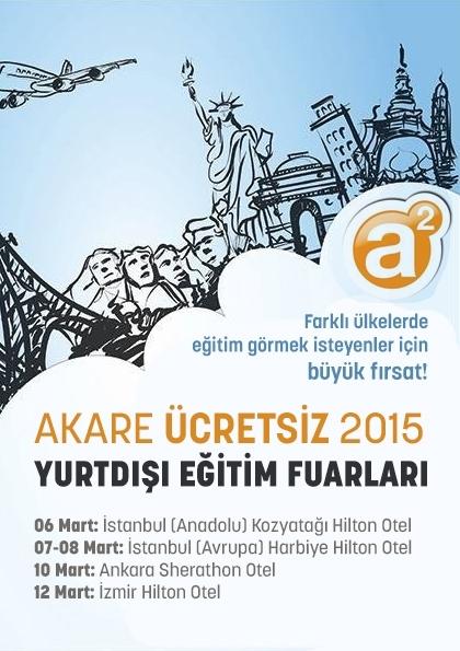 Akare Ücretsiz Yurtdışı Eğitim Fuarları İzmir Etkinlik Afişi