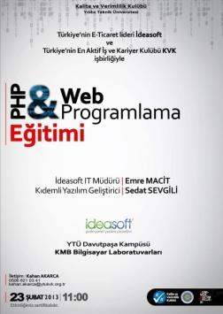 PHP ve Web Programlama Eğitimi Etkinlik Afişi