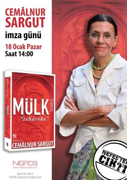Cemâlnur Sargut - İmza Günü (Adana Çukurova Tüyap Kitap Fuarı) Etkinlik Afişi