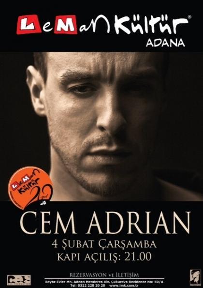 Cem Adrian Adana Konseri Etkinlik Afişi