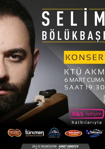 Selim Bölükbaşı Trabzon Konseri Etkinlik Afişi