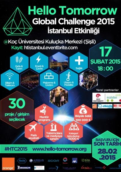 Hello Tomorrow Challenge 2015 İstanbul Etkinliği Etkinlik Afişi