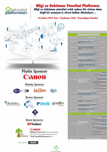 Bilgi ve Doküman Yönetimi Teknoloji Platformu Etkinlik Afişi