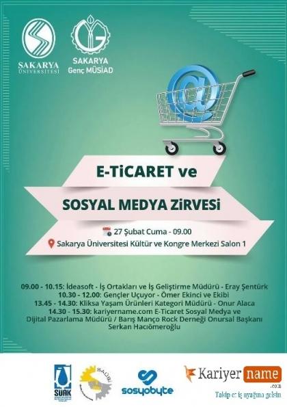 E-Ticaret ve Sosyal Medya Zirvesi Etkinlik Afişi