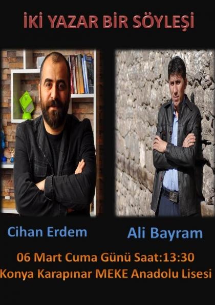 Cihan Erdem ve Ali Bayram Söyleşi & İmza Günü Etkinlik Afişi
