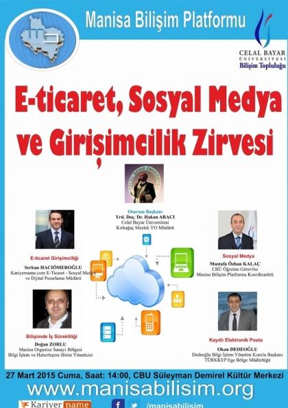 E-Ticaret, Sosyal Medya ve Girişimcilik Zirvesi Etkinlik Afişi