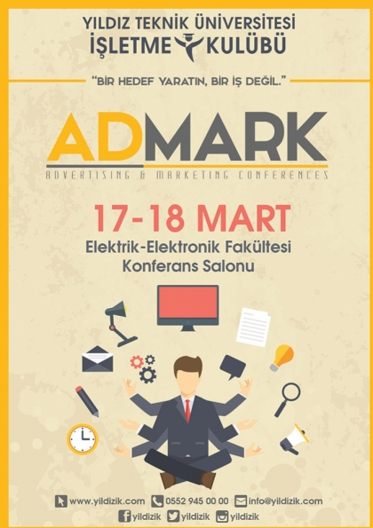AdMark'15 (Advertising & Marketing Conferences) Etkinlik Afişi