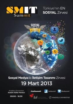 SMİT Summit (Sosyal Medyada İletişim Tasarımı Zirvesi) Etkinlik Afişi