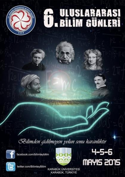 6. Uluslararası Bilim Günleri Etkinlik Afişi