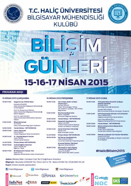 Haliç Üniversitesi Bilişim Günleri Etkinlik Afişi