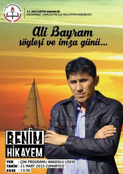 Yazar Ali Bayram Kastamonu'da İmza Günü Etkinlik Afişi