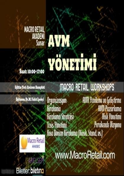 AVM Yönetimi WorkShop Etkinlik Afişi