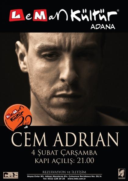 Cem Adrian Konseri Etkinlik Afişi