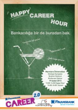 Finansbank Career 2.0 - Marmara Community Etkinlik Afişi