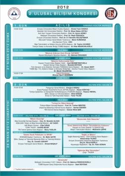 II. Ulusal Bilişim Kongresi Etkinlik Afişi