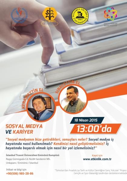 Sosyal Medya ve Kariyer Semineri Etkinlik Afişi