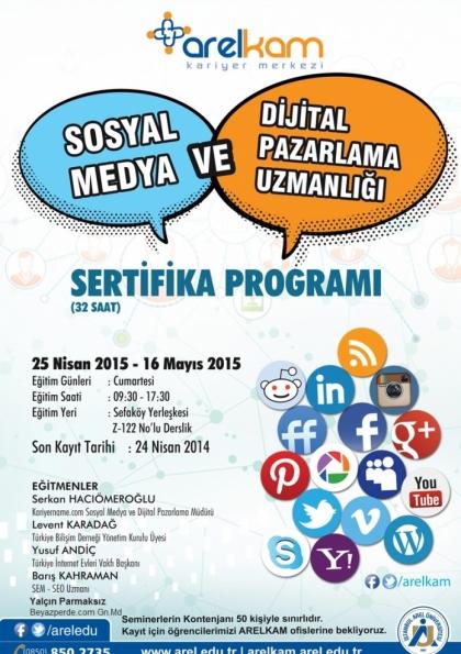 Sosyal Medya ve Dijital Pazarlama Eğitimi Etkinlik Afişi