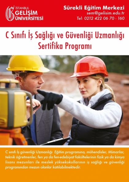 C Sınıfı İş Güvenliği Uzmanlığı Eğitim Programı Etkinlik Afişi