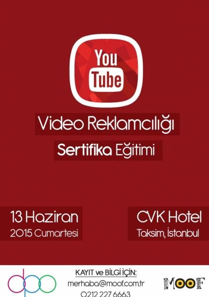 YouTube Video Reklamcılığı Sertifika Eğitimi Etkinlik Afişi