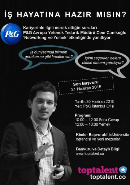 P&G Avrupa Yetenek Tedarik Müdürü ile Networking&Yemek Etkinlik Afişi
