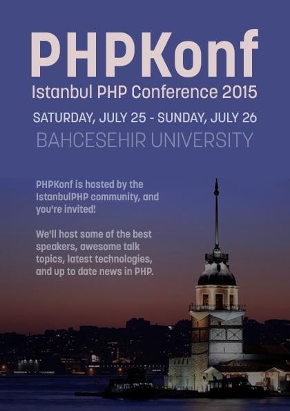 PHPKonf İstanbul PHP Konferansı 2015 Etkinlik Afişi