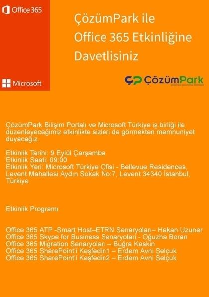Office 365 Day Etkinlik Afişi