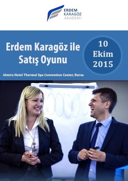 Erdem Karagöz ile Satış Oyunu Etkinlik Afişi