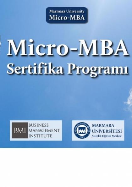 Micro MBA Sertifika Programı - Marmara Üniversitesi Etkinlik Afişi