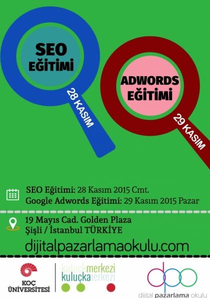 SEO ve Google AdWords Eğitimi Etkinlik Afişi