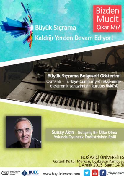 Büyük Sıçrama Boğaziçi Üniversitesi Etkinlik Afişi