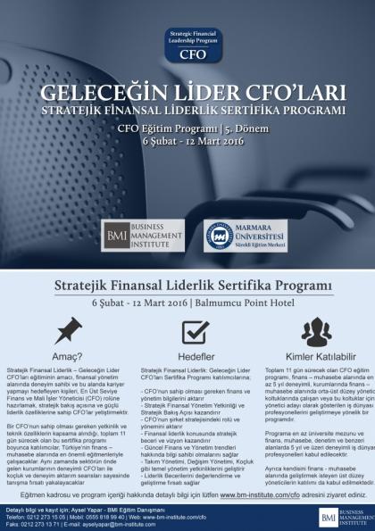 CFO Eğitim Programı - Marmara Üniversitesi Etkinlik Afişi